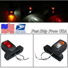 2 Pcs 12V Car Truck Van Trailer 4 LED Side Marker Light Tail Light Outline Lamp