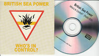 BRITISH SEA POWER Who's In Control  2011 UK 1-trk promo CD