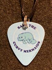 CURVY MERMAID Guitar Pick Necklace Manatee Water Beach Save the Ocean