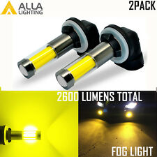 Alla Lighting 2x 881 Car LED Fog Driving Light Bulb Golden Yellow Replacement VS