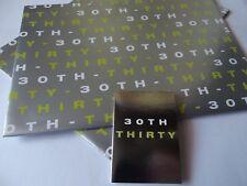 30th Birthday Gift Wrap......2 Sheet & 1 Tag....70cm x 50cm