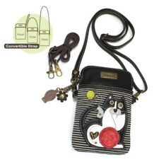 Chala Cell Phone Crossbody Bag Cat Black Stripe Adjustable Convertible Strap New