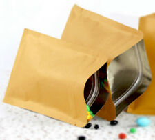 25x Kraft paper bags zipper gift bags wedding favour party favour candy 13x18cm