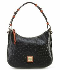 Dooney & Bourke Ostrich Collection Small Kiley Hobo Purse Handbag Leather New