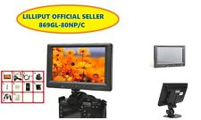 "Lilliput 8"" 869GL-80NP/C field monitor with VGA HDMI AV DVI input Car Monitor"