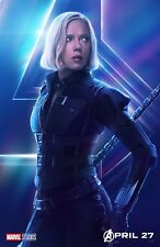 The Avengers Infinity War movie poster (t) : 11 x 17 inches - Black Widow