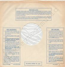 "Vintage INNER SLEEVE or SLEEVES 12"" IMPORTANT! THE RECORD EQUIPMENT dots v4 x 1"