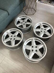 Bmw E30 Ac Schnitzer Alloy Wheels 16x7.5 Rims 4x100