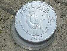 40mm 1 RYAL Coin embossed SCOTLAND 2017 Golf ball marker WILLIAM WALLACE