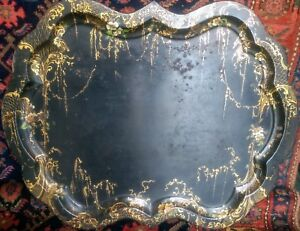 Antique Georgian Toleware Tray c.1810  (Very Large)