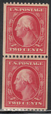 USA  MNH Scott  # 386 pair Washington Perf 12  Wk 190   Value $ 560.00