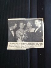 m3-3 ephemera 1949 Walthamstow Beauty Queen Virginia Field Jimmy Turton