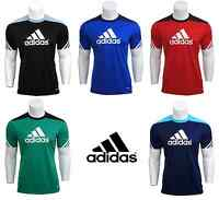 Adidas Boys T Shirt Junior Kids Climalite Crew Training Gym Football Top 5-16