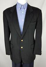 Emilio Yuste Men's Black Cashmere 2 Button Blazer Sports Coat Jacket 43R GIO