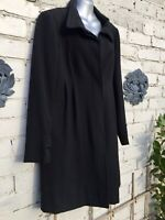 Stunning Black Size 12 Mid Length Virgin Wool Weekend Maxmara Coat🍂🍁🍂