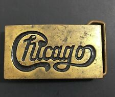Vintage Chicago Rock Band Brass Buckle