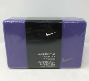 Nike Essential Yoga Solid Foam Pose-Block Workout Stretching Purple Gray 🚚FREE