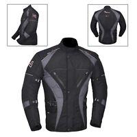Grey/Black Men's Motorcycle Motorbike Jacket Waterproof Textile CE Armoured