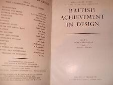 British Achievement In Design Edited By Noel Carrington & Muriel Harris 1946?