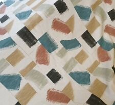 Villa Nova Huari Russet Curtain Craft Fabric 2.2 Metres Linen Mix