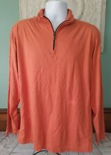Tommy Bahama Men's (L) L/S Orange Pima Cotton Pullover with Zipper