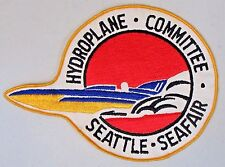 giant SEATTLE SEAFAIR HYDROPLANE COMMITTER hydroplane boat shirt jacket patch