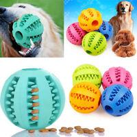 5/7cm Rubber Ball Chew Treat Dispensing Holder Pet Dog Puppy Toy Training Dental