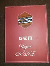 GEM Wizard 327/327L Original Owners Manual 1970's