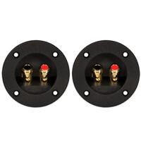 2 Goldwood Sound RGT-5050 Round Power Terminal Plates Speaker Terminals