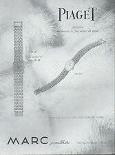 ▬► PUBLICITE ADVERTISING AD MONTRE WATCH PIAGET Marc joaillier