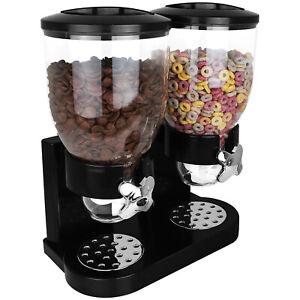 Doppel Müslispender Cornflakes Müsli Cerealien Nuss Süßigkeiten Spender Behälter