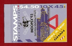 1993 Australia Trains Booklet Indopex Overprint SG SB 80