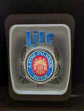 Vintage MillerLiteBeer Sign Bar Lighted Wall Display Light Milwaukee