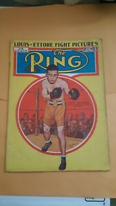 Vintage Ring Boxing Magazine. December 1936. Sixto Escobar.