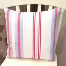 "💗Clarke and Clarke Lulu White Blue Stripe Shabby Chic 16"" Cushion Cover 💗"