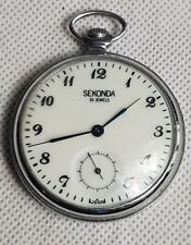 Beautiful Vintage Sekonda 18 Jewels Pocket Watch made in USSR