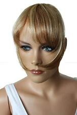 Clip in Bang Fringe Extension 100% Real Human Hair Secure 2 Clips Front Hair NEW