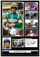 (#63) frankie dettori horse racing a4 signed photograph (reprint) great gift ###