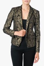 NWT 7 FOR ALL MANKIND SzM METALLIC JACQUARD BLAZER JACKET IN BLACK $398.