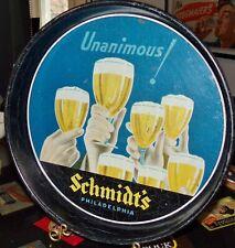 """Schmidt's beer """"unanimous"""", deep dish, 13"""" tray, Philadelphia, Pa 1930's"""