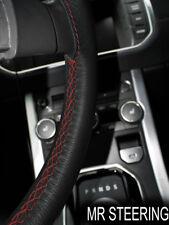 Para Toyota Tacoma MK2 05-11 negro piel cubierta del volante D Rojo STCH doble