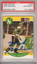 Mike Modano Minnesota North Stars 1990 Pro Set RC #142 Signed AUTOGRAPH PSA DNA