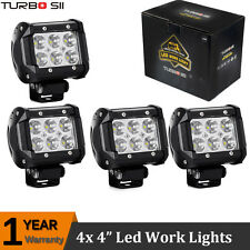 4x 4'' INCH Cree 18W LED Work Light Bar Spot Driving Lamp 4WD Offroad TRUCK SUV
