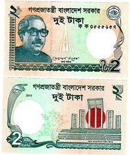 BANGLADESH Billet 2 TAKA 2011 PNL NOUVEAU NEW UNC NEUF