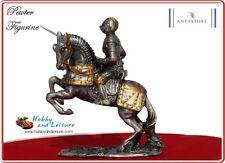 Ancestors Pewter Medieval Knight on Horseback w/ Lance, 4.25ins Veronese # 7729