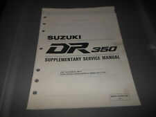 Factory OEM Suzuki 1994 DR350 Supplementary Service Manual 21pgs