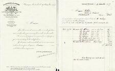 Dépt 21 - Chassagne-Montrachet - B. de MONTHELIE Propriétaire de Vignes - 1927