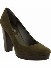 NIB Banana Republic Dark Olive Suede 'Union' High Heel Pumps - Size 7.5