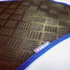 Fiat Stilo (02-now) Richbrook Black 3mm Rubber Car Mats - Blue Leather Trim