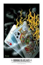 Michael Godard Burning Blackjack Novelty Fantasy Humor Print Poster 24x36